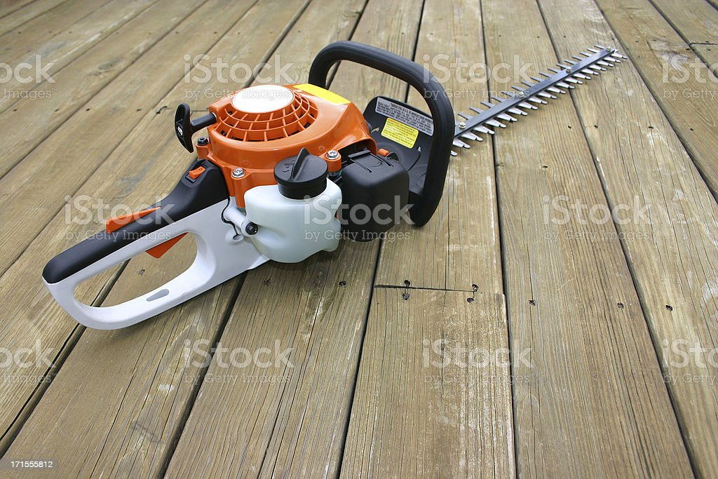 Gas Powered Bush Trimmer royalty-free stock photo