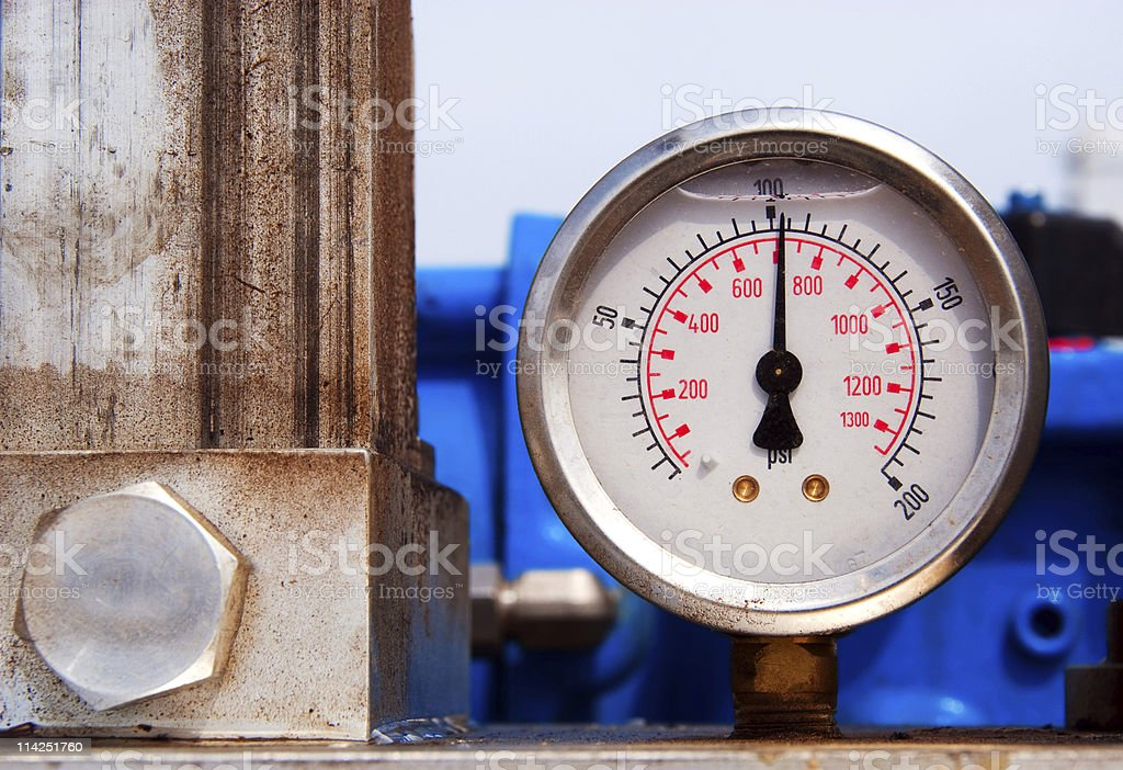 Gas Pressure royalty-free stock photo