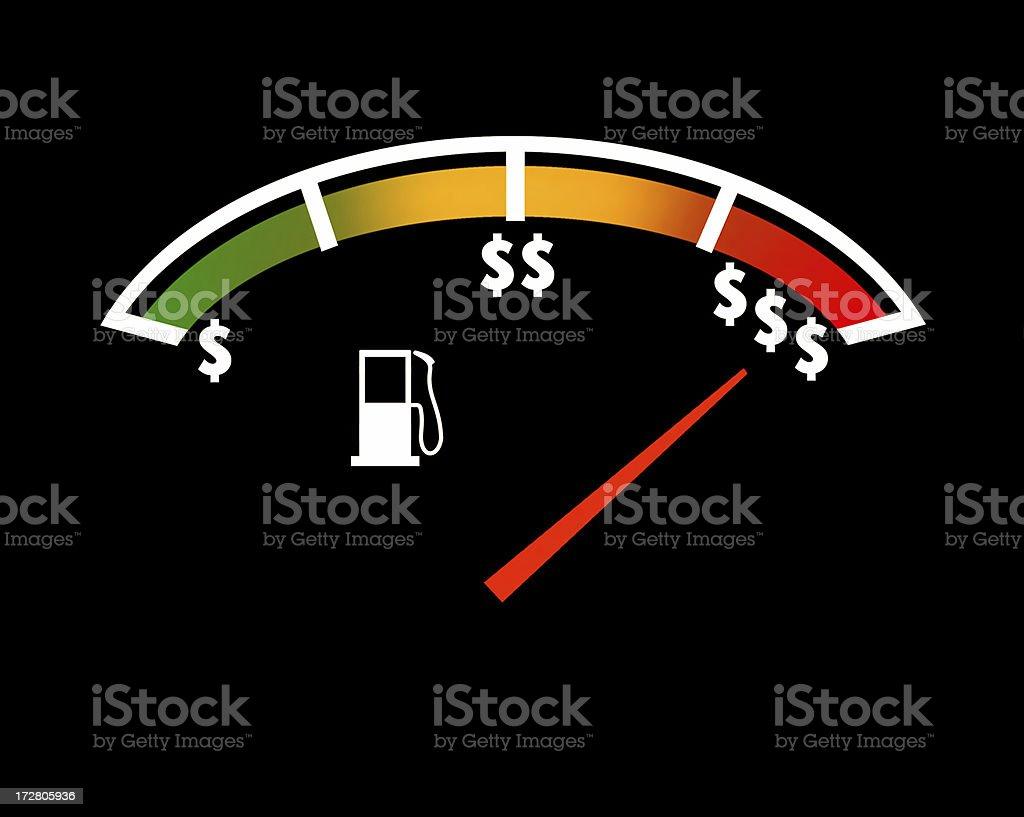 Gas Price Gauge royalty-free stock photo