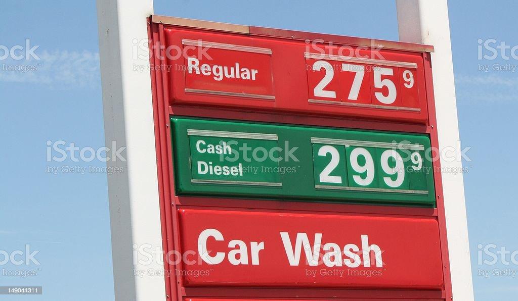 Gas Price stock photo