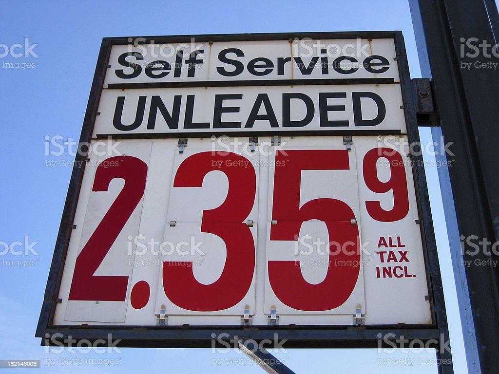 Gas Price Signage stock photo
