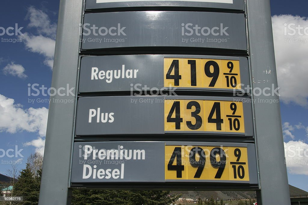 Gas Price Sky High royalty-free stock photo
