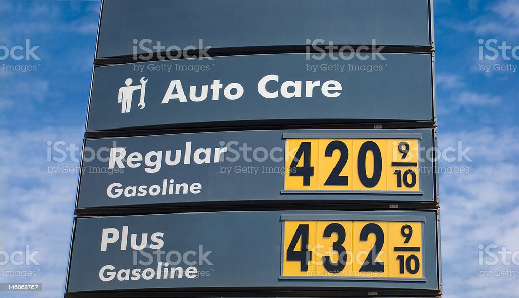 Gas Prices in San Francisco, California royalty-free stock photo