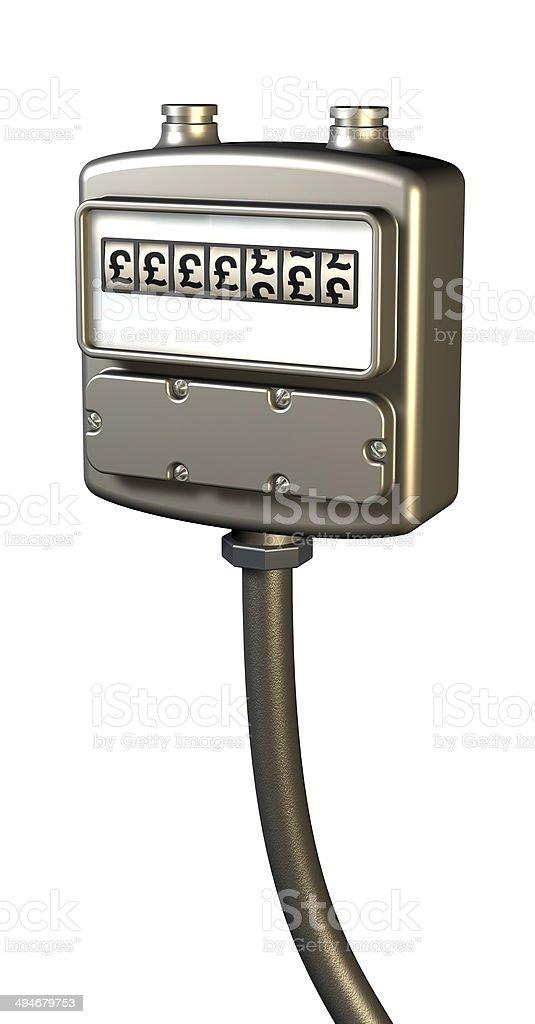 Gas prices meter royalty-free stock photo