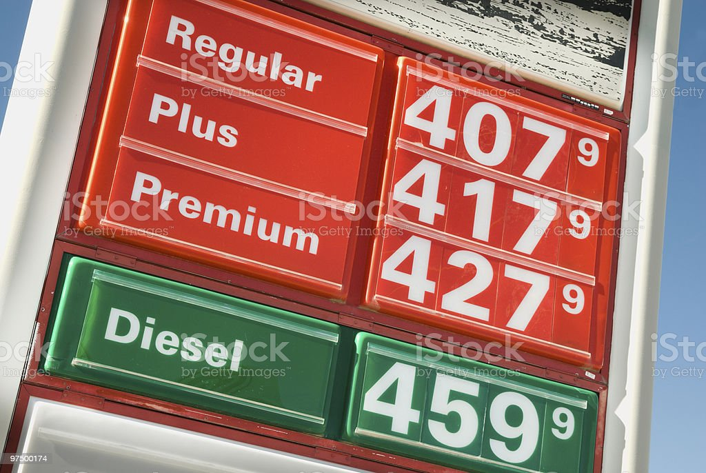 Gas Prices On The Rise royalty-free stock photo