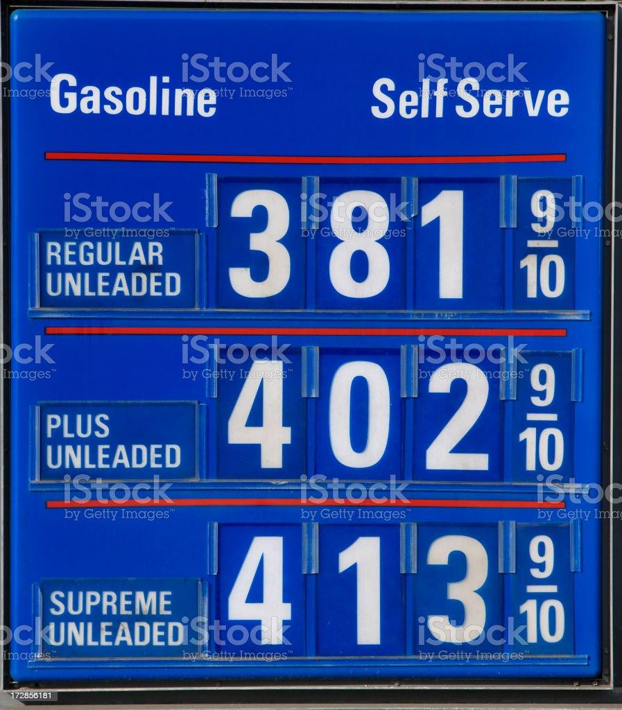 gas prices royalty-free stock photo