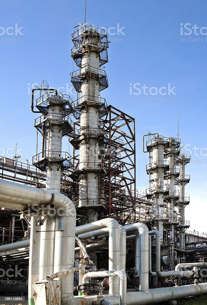 Gas Processing Plant royalty-free stock photo