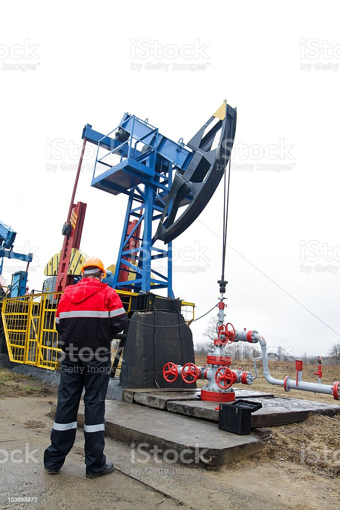 Gas Production Operator royalty-free stock photo