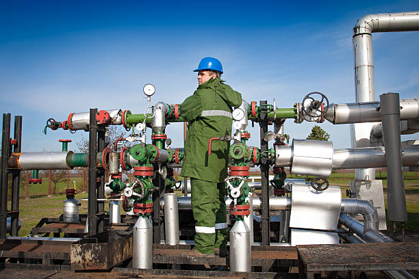 gas production operator stock photo - Production Operator