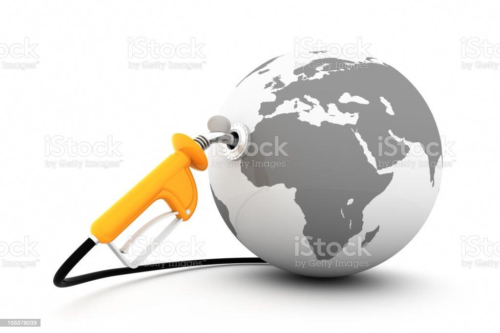 Gas Pump and Globe stock photo