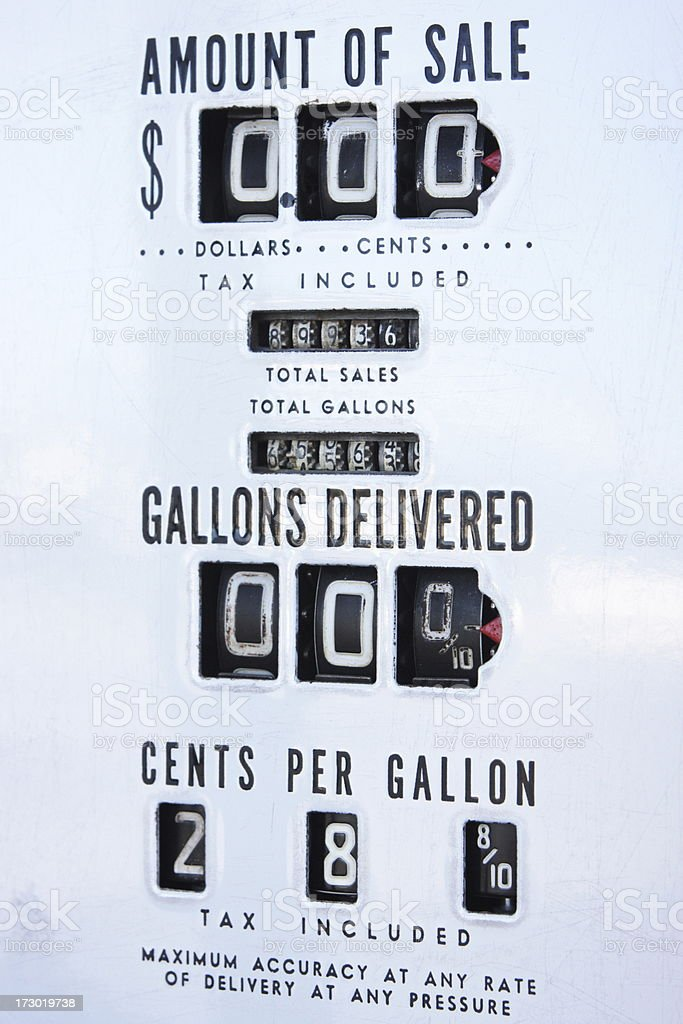 Gas Pump Cheap Price Fuel Cost royalty-free stock photo