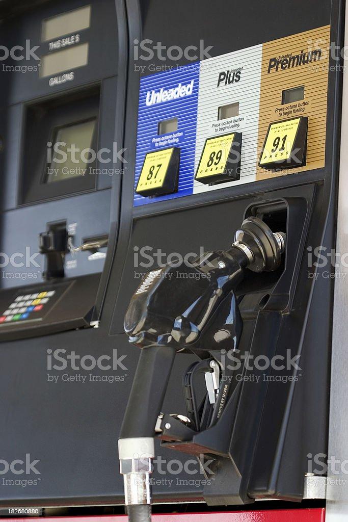 Gas Pump closeup stock photo