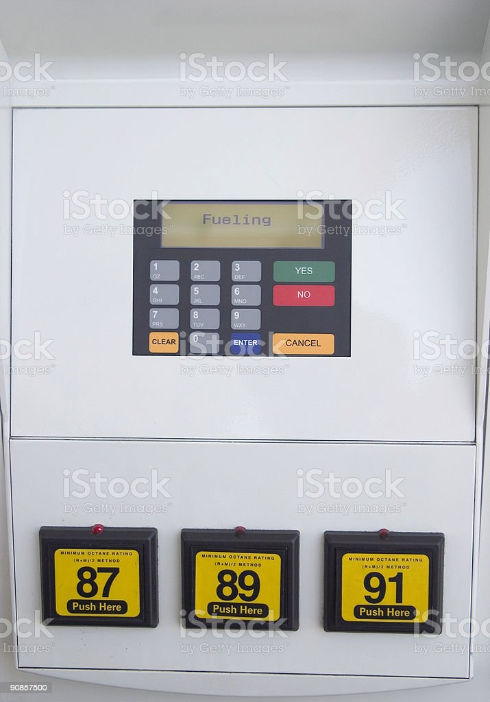 Gas Pump Closeup royalty-free stock photo