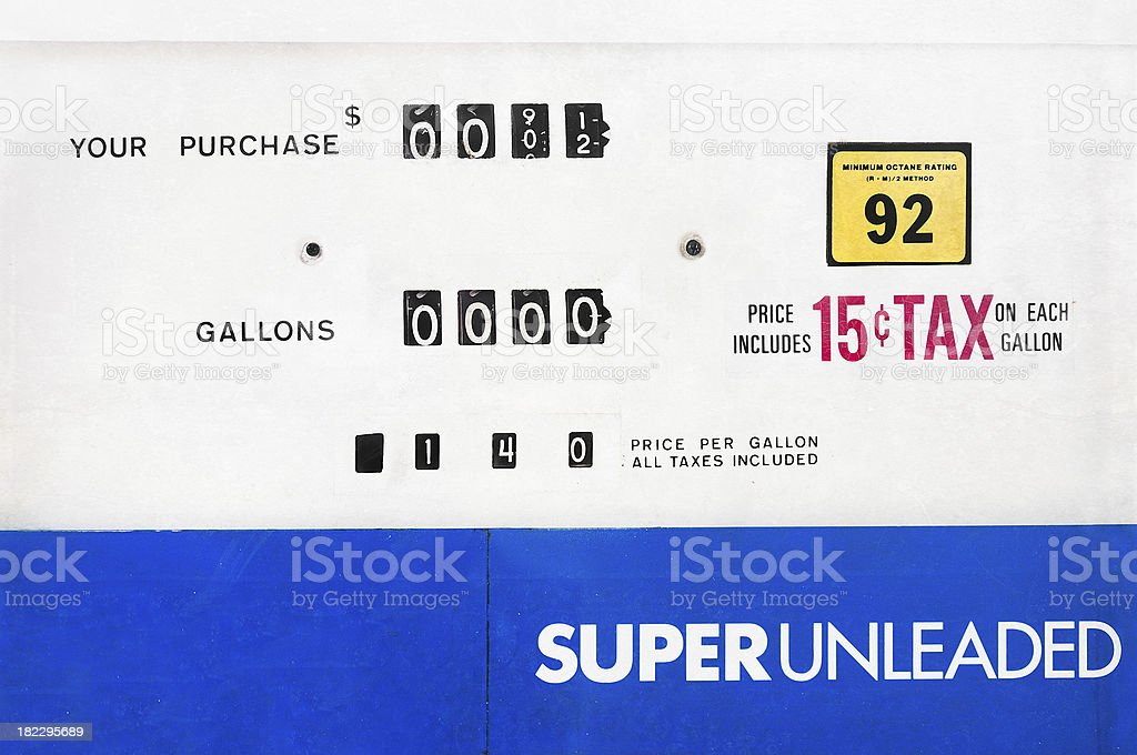 Gas Pump Face royalty-free stock photo