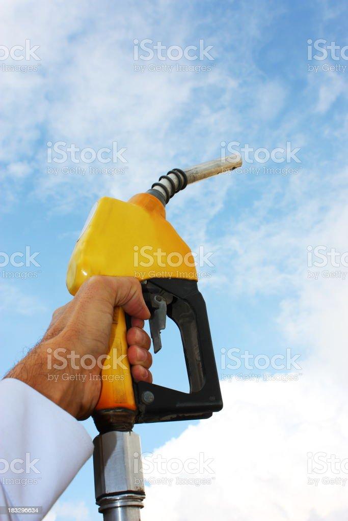 Gas Pump Handle royalty-free stock photo