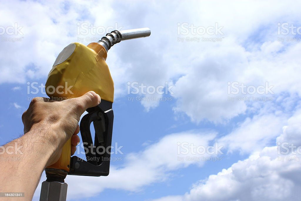 Gas Pump Handle royalty-free stock photo