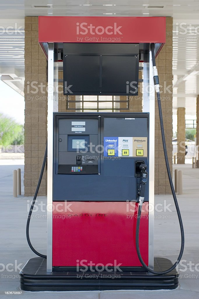 Gas pump II stock photo