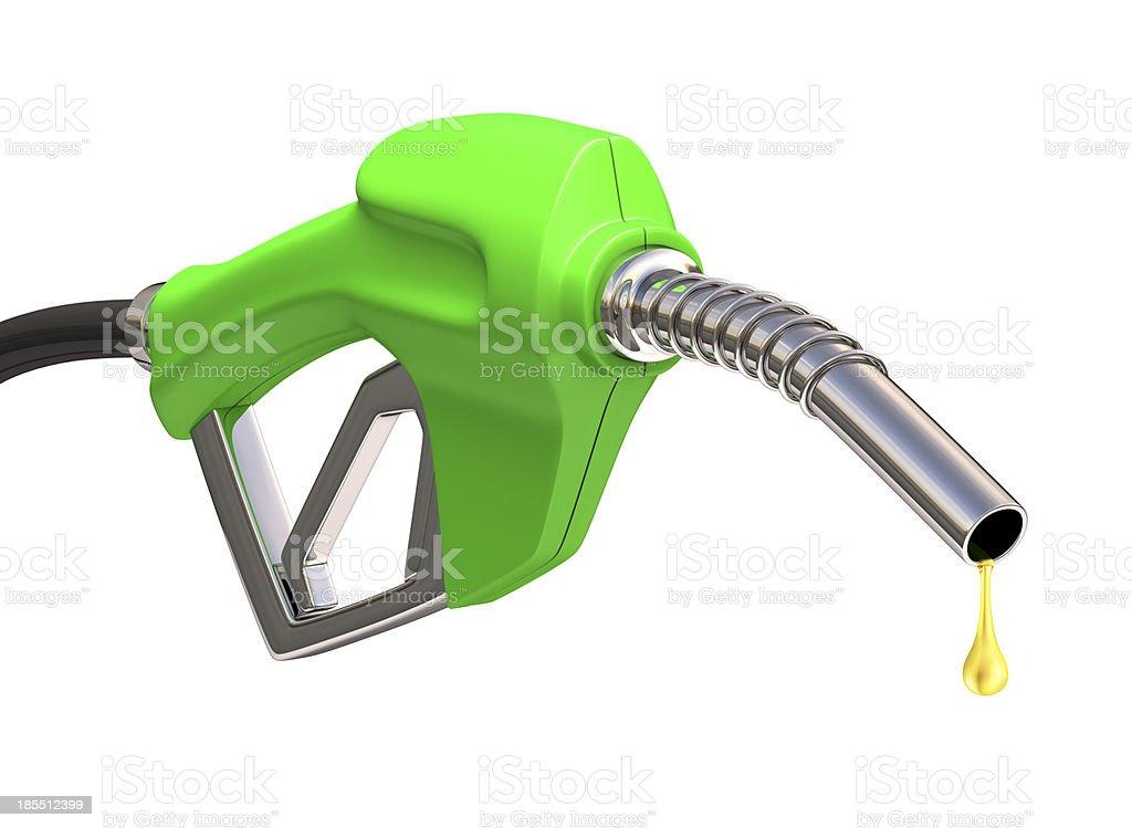 Gas Pump Over White stock photo