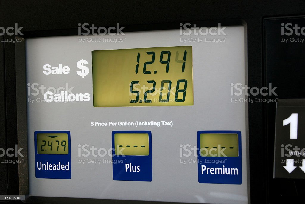 Gas pump, station. Price of fuel. Cost. Gasoline. royalty-free stock photo