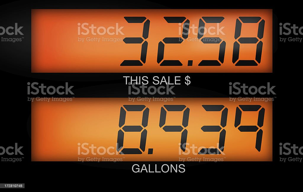 Gas Pump Total stock photo