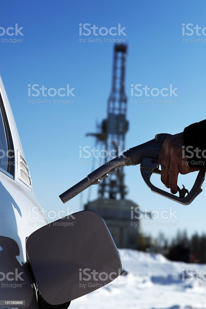 Gas Refinery and Service Station . royalty-free stock photo