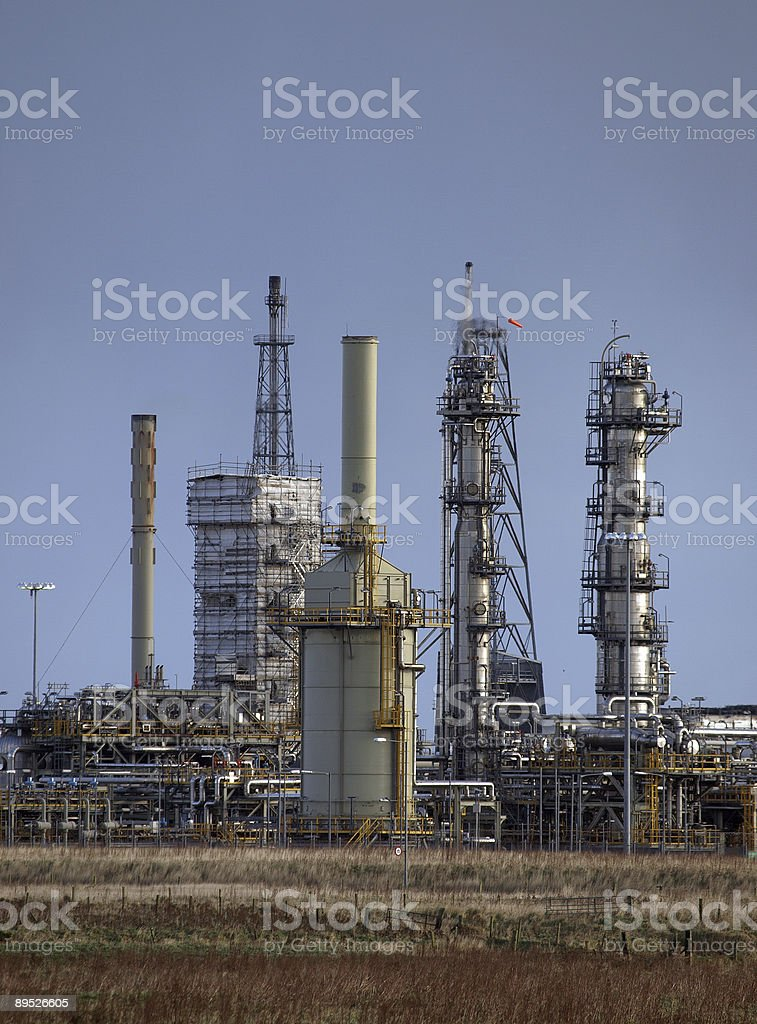 Gas Refinery royalty-free stock photo