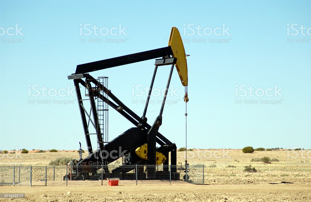 gas rig stock photo
