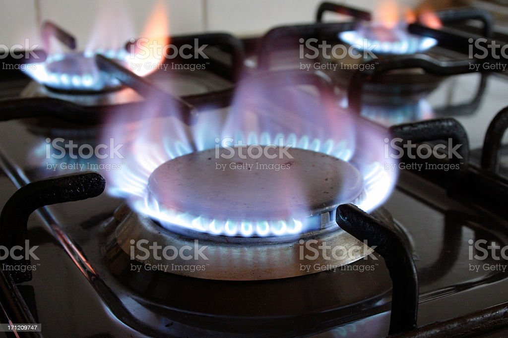Gas ring burner stock photo