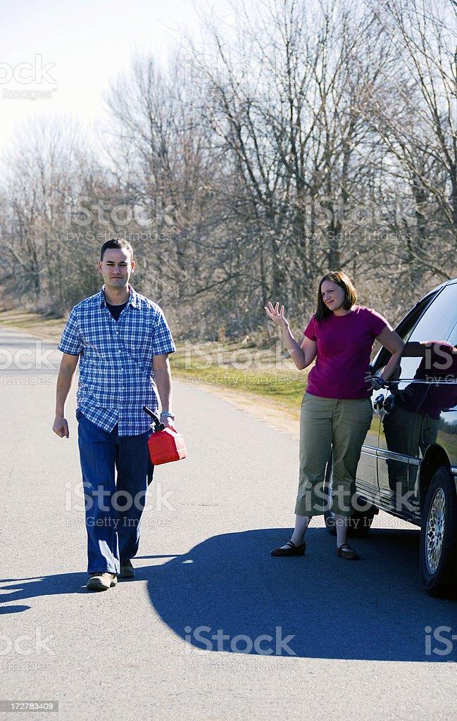 Gas Run royalty-free stock photo