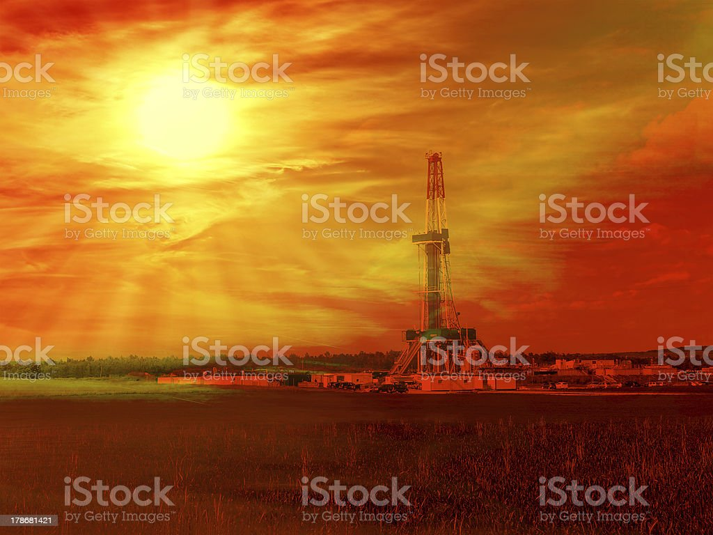 Gas Shale stock photo