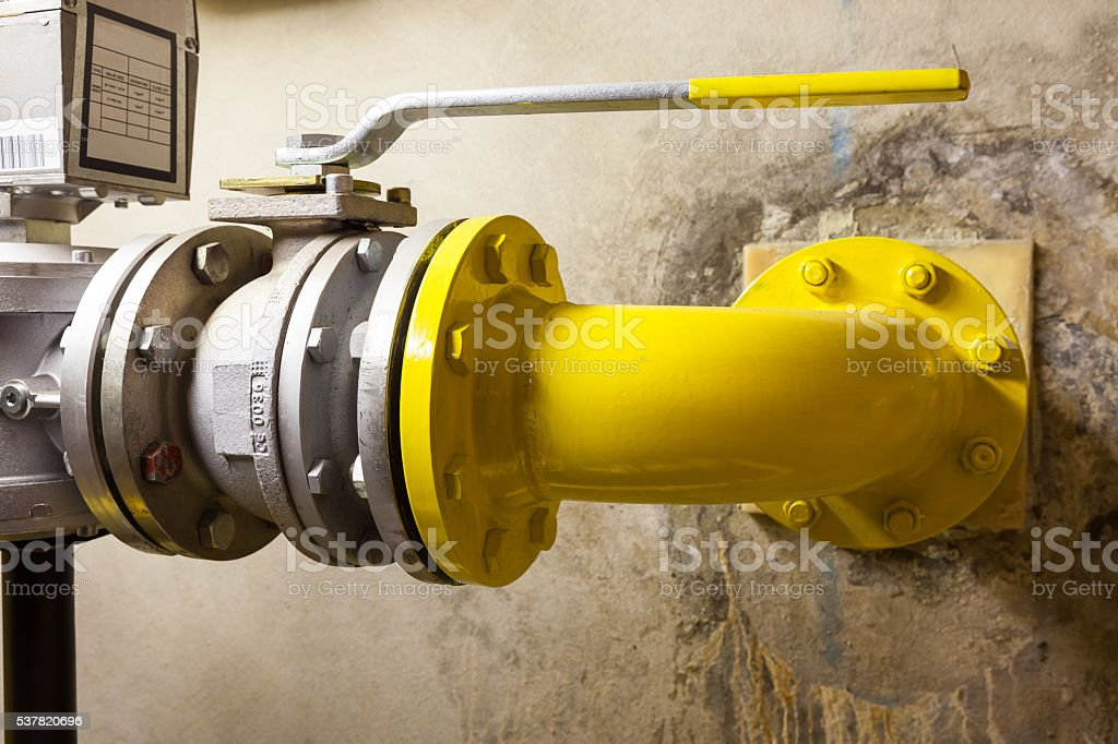 gas shut-off valve stock photo