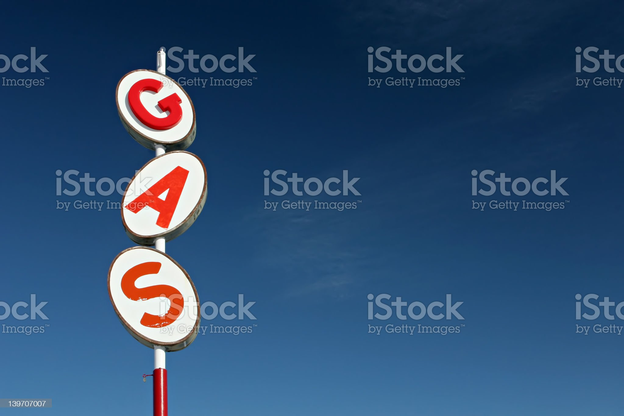 gas sign retro royalty-free stock photo