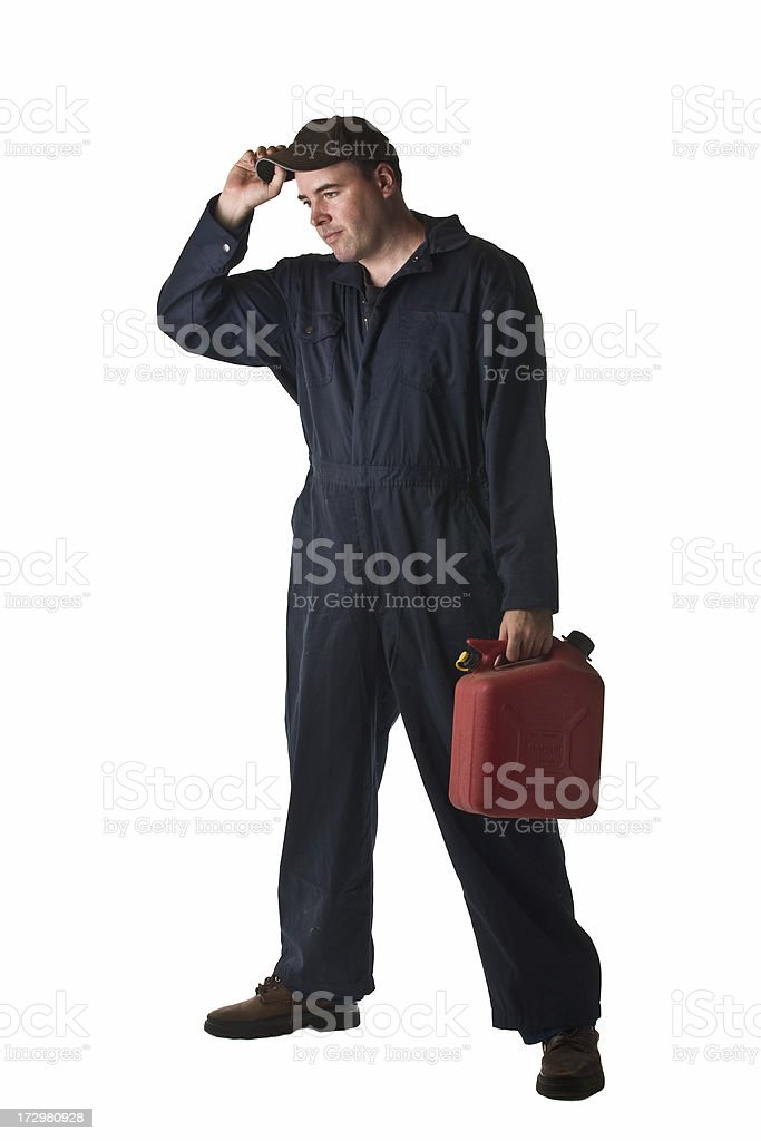 Gas Station Attendant royalty-free stock photo