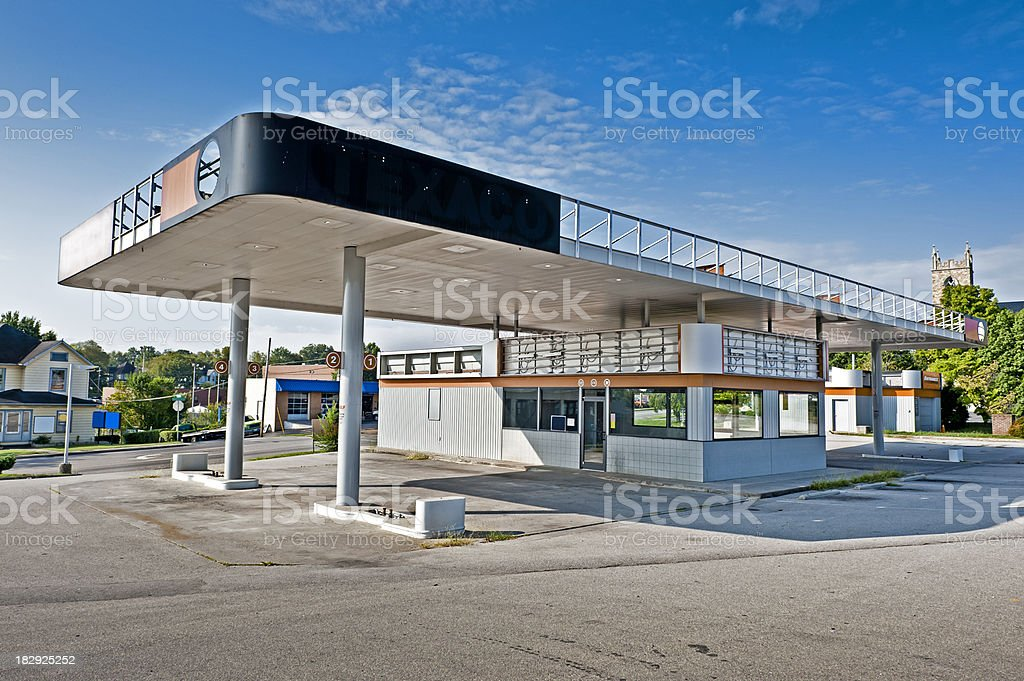 Gas Station Convenience Store Out Of Business royalty-free stock photo
