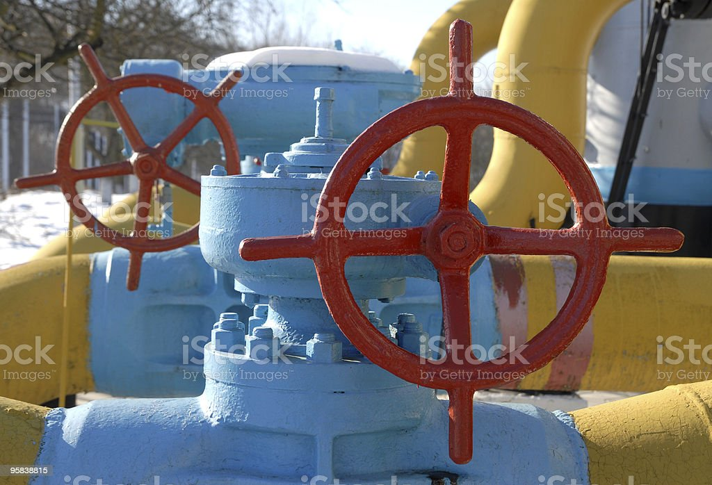 gas station equipment royalty-free stock photo