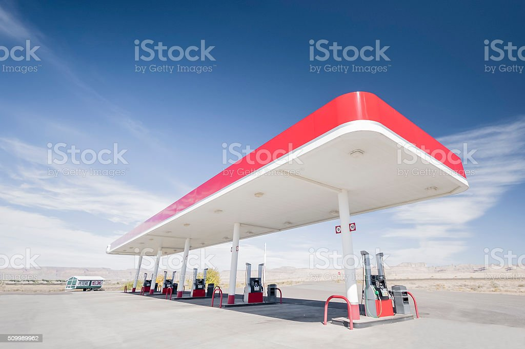 Gas Station in Utah stock photo