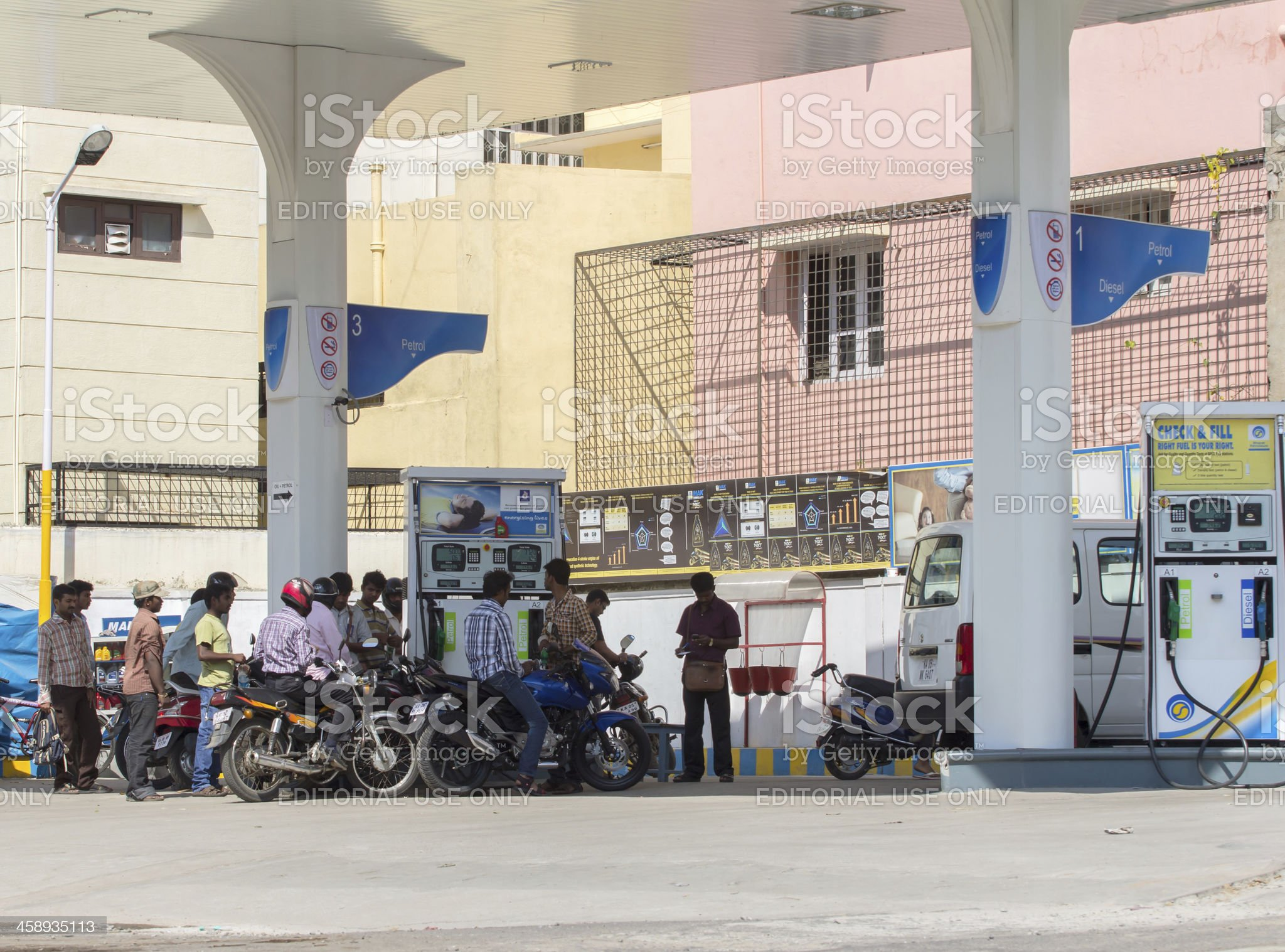 Gas station, India royalty-free stock photo
