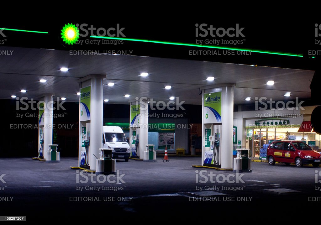 BP Gas Station royalty-free stock photo