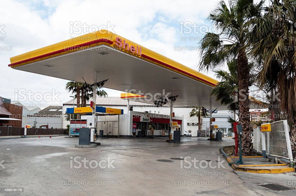 Gas station. stock photo