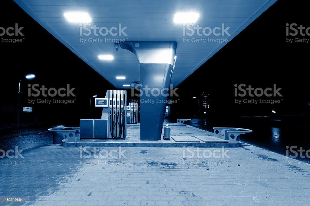 Gas station. stock photo