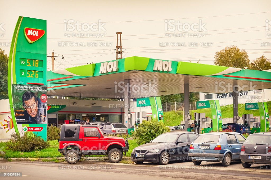 MOL Gas Station stock photo