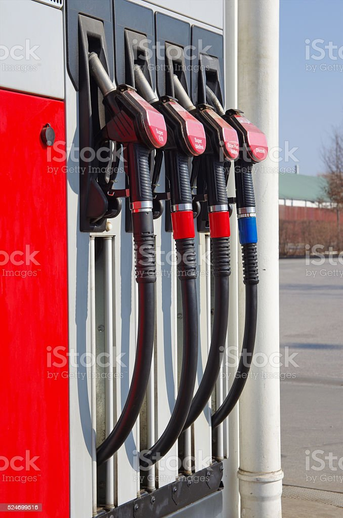 Gas station pumps royalty-free stock photo