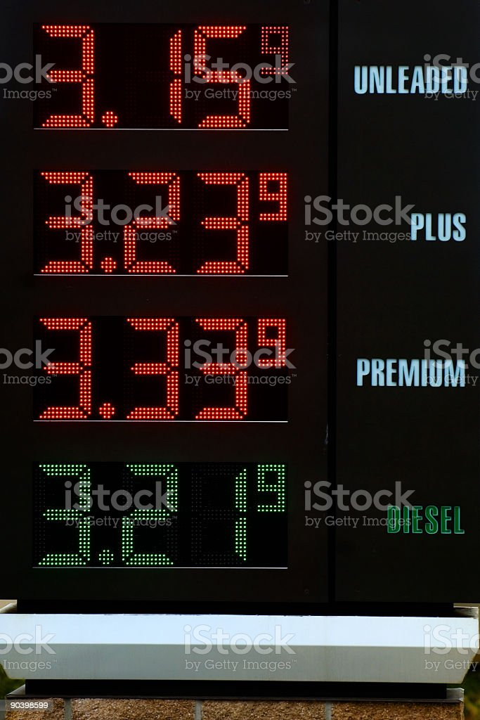 Gas station table royalty-free stock photo