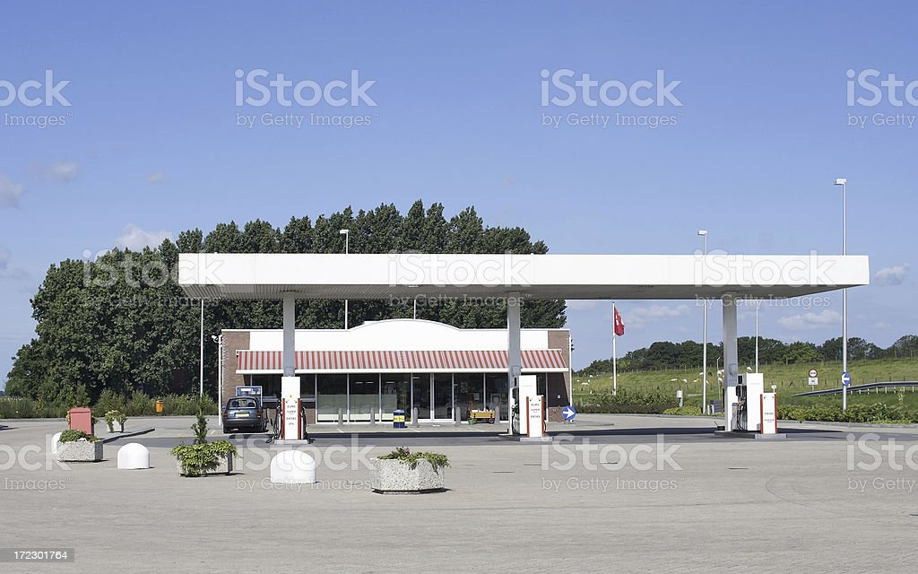 Gas station with shop stock photo