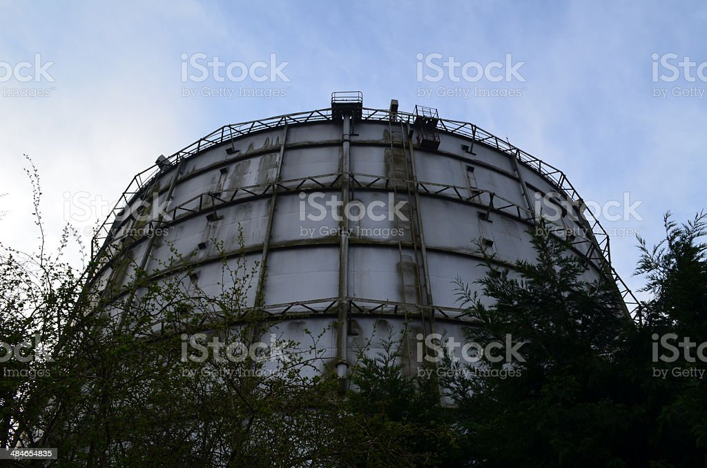 Gas storage container. stock photo