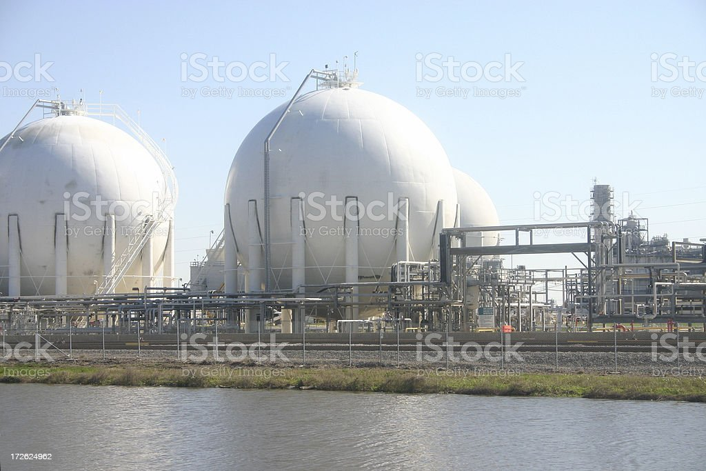 Gas storage stock photo