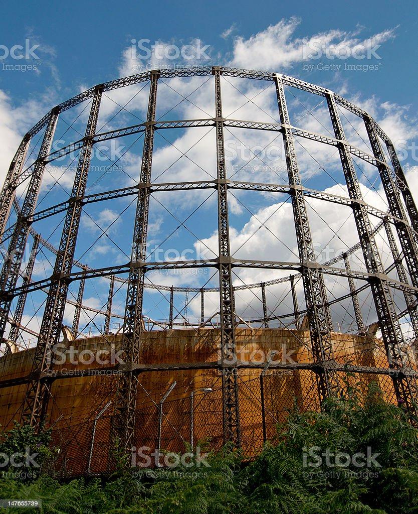 Gas Storage Tank royalty-free stock photo