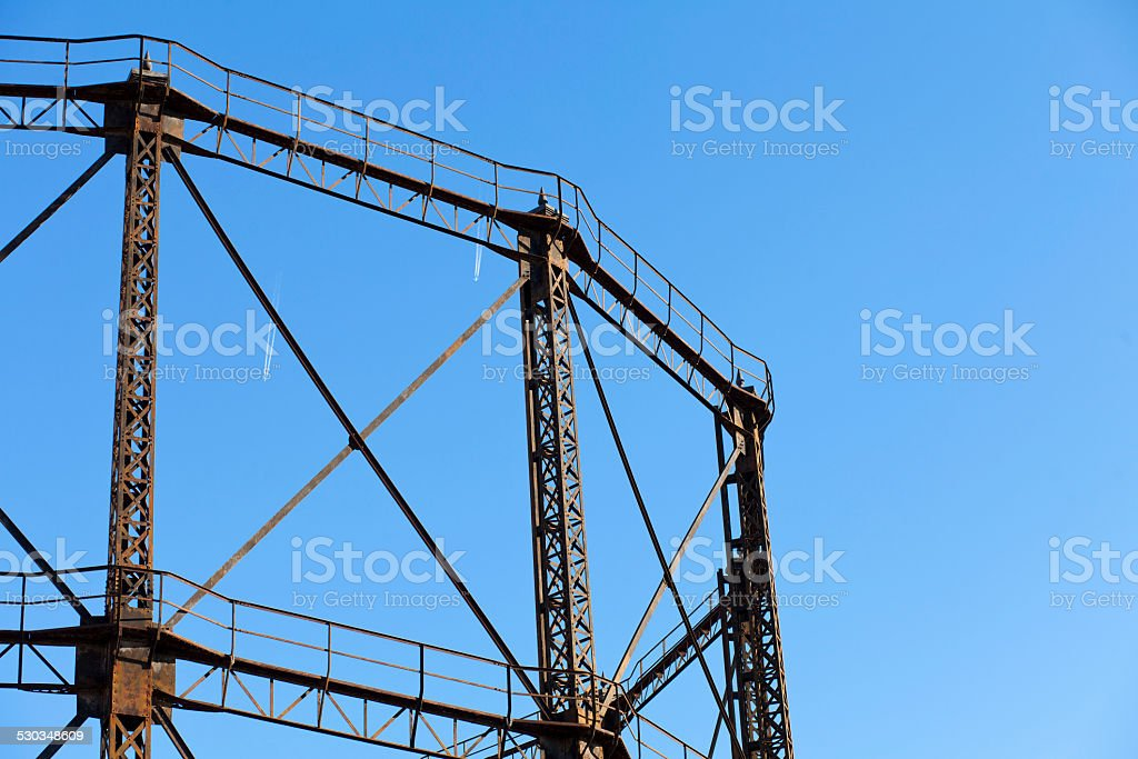gas storage tank stock photo