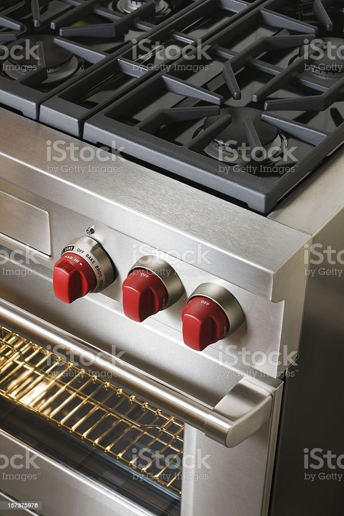 Gas Stove and Burners, Appliance for Commercial or Residential Kitchen royalty-free stock photo
