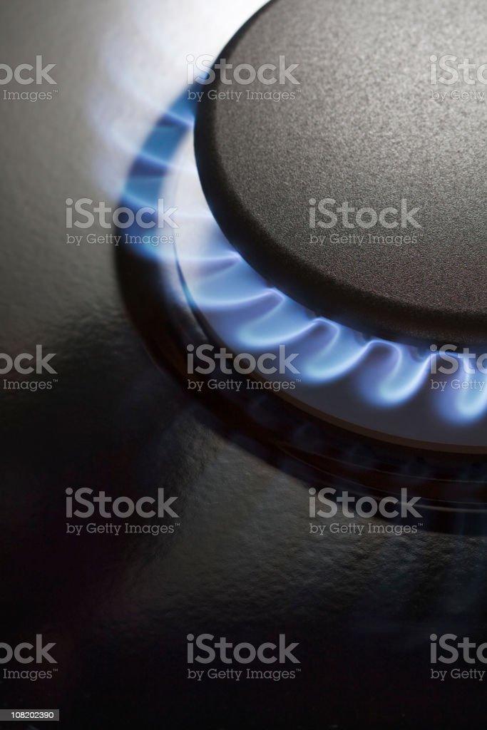 Gas Stove Burner royalty-free stock photo